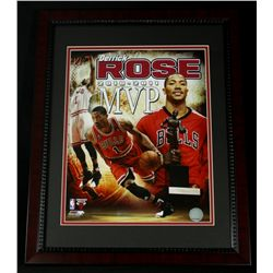 Derrick Rose Bulls 16x20 Custom Framed Photo Display