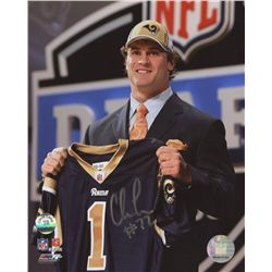 Chris Long Signed Rams 8x10 Photo (Long Hologram)