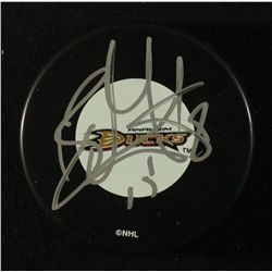 Ryan Getzlaf Signed Ducks Logo Puck (JSA COA)