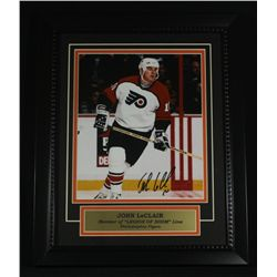 John LeClair Signed Flyers 13x16 Custom Framed Piece (SOP COA)