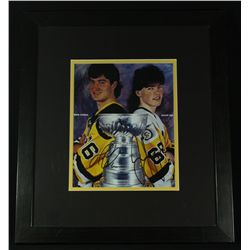 Mario Lemieux & Jaromir Jagr Signed Penguins 16x18 Custom Framed Display (GA COA)
