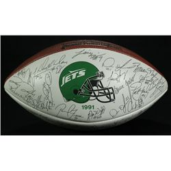 1991 New York Jets Team Signed Facsimile Lithograph Football