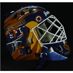 2007 Atlanta Thrashers Team Signed Goalie Mask Signed by (14) (PA LOA)