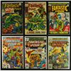 Lot of (6) Vintage Fantastic Four Marvel Comic Books From The 1960's & 1970's