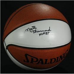 "Nate Thurmond Signed Basketball: L/E 13 of 108: Inscribed ""HOF 85"" (JSA COA)"