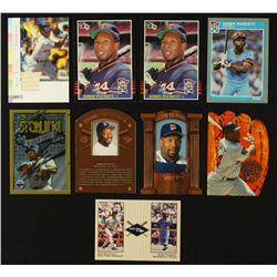 Lot of (9) Kirby Puckett Twins Baseball Cards Including Game-Used Bat Card