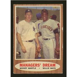 1962 Topps #18 Managers Dream Mickey Mantle & Willie Mays