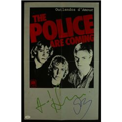 "Sting & Andy Summers Signed ""The Police"" 14x22 Band Poster (JSA COA)"