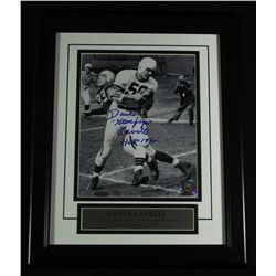 Dante Lavelli Signed Browns 13x16 Custom Framed Display: Multiple Inscriptions (TriStar)