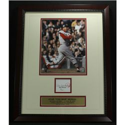 Stan Musial Signed Cardinals 16x20 Custom Framed Piece (JSA COA)