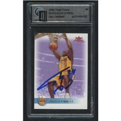Shaquille O'Neal Signed Basketball Card (GAI Encapsulated)