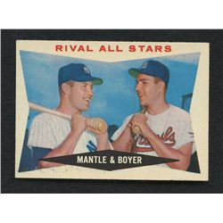 1960 Topps #160 Rival All-Stars Mickey Mantle & Ken Boyer