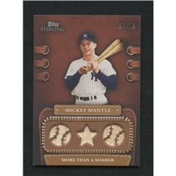 2010 Topps Sterling Legendary Leather Relics Quad 10 #LLR8 Mickey Mantle