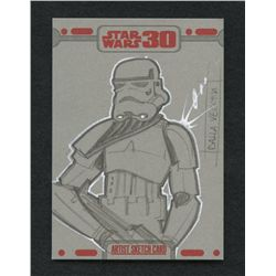 "Topps Star Wars ""A New Hope"" Artist Sketch Card By Dalla Vecchia 1/1"