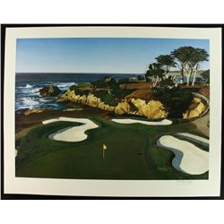 "Danny Day Signed ""The 15th at Cypress Point"" Golf Course LE Lithograph #588/1000 (PA LOA)"