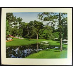 "Danny Day Signed The Masters ""The 16th at Augusta"" Golf Course LE 32x25 Lithograph (PA LOA)"