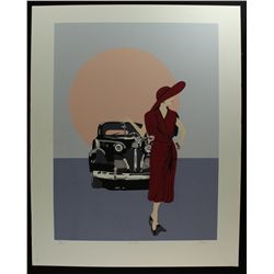 """The Ride"" LE 32x23 Serigraph by Bruce Capra: #52/500 (Retail $700)"