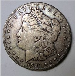 1903 S MORGAN DOLLAR F VF ORIGINAL