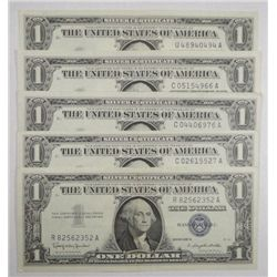 (5) $1.00 SILVER CERTS, (5) $2.00 RED SEALS AND (5) $5.00 RED SEALS  VF OR BET