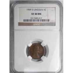 1909S  Lincoln penny  NGC40BN