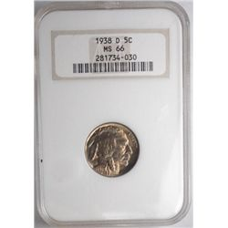 1938D   Buffalo nickel  NGC 66