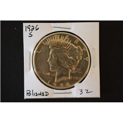 1926-S Peace $1; Polished; EST. $30-40