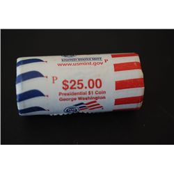 US George Washington Presidential $1 Shot Gun Roll; Philadelphia Mint; EST. $25-35