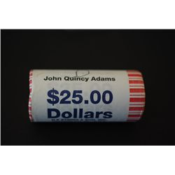 US John Quincy Adams Presidential $1 Shot Gun Roll; Denver Mint; EST. $25-35
