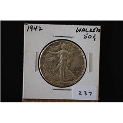 1942 Walking Liberty Half Dollar; EST. $15-20