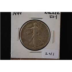 1944 Walking Liberty Half Dollar; EST. $15-20