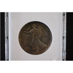 1916-D Walking Liberty Half Dollar; Obverse; MCPCG Graded G3; EST. $60-80