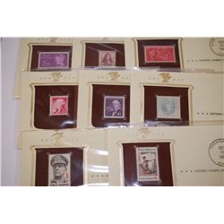 1988-1991 Historic Stamps Of America; Franklin D Roosevelt 8/24/45, William Penn 10/24/32, Eleanor R