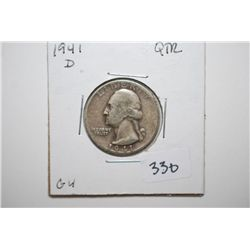 1941-D Washington Quarter; G4; EST. $6-10