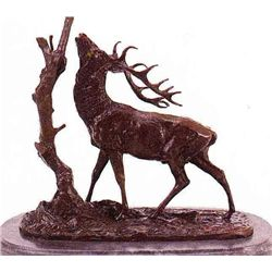 """Elk - Tree"" Bronze Sculpture - Mene"