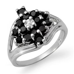 Natural 1.01 ctw White & Black Diamond Ring 10K Gold