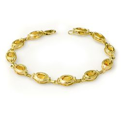 Genuine 5.05 ctw Citrine Bracelet 10K Yellow Gold