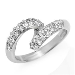 Natural 0.60 ctw Diamond Ring 10K White Gold