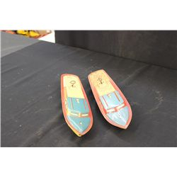 "2 TIN BOATS BY LINDSTROM - 15"" - ONE MONEY"