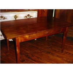 French Farm table-desk 1 drawer circa 1860