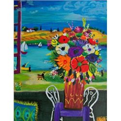 Shlomo Alter BEAUTIFUL BOUQUET Hand Signed Limited Ed.