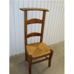 French prayer chair with rush seat circa 1870
