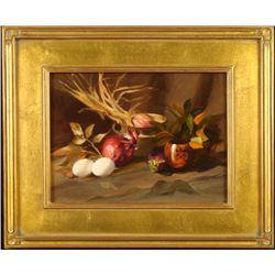 William Chambers Original Painting Eggs And Red Onions