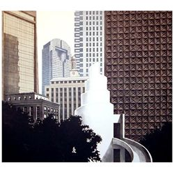 Richard Haas -Dallas Skyline Lithograph Texas Art Print