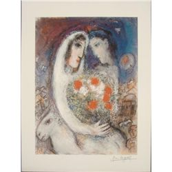 Marc Chagall : Marriage Romantic Art Print