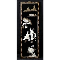 Chinese Decorative 3-D Panel Lacquer Style Wall Art
