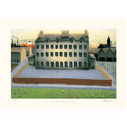 Mackenzie Thorpe 'ALL THE WORLD IS PLAYING' Lithograph
