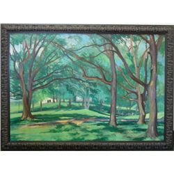 Dorothy Young Graham Original Landscape Painting Framed