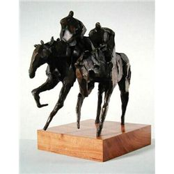 Jean Richardson Signed LE Bronze GEMINI Horse Art