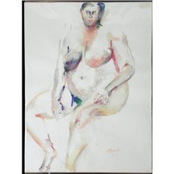 Betty Snyder Rees Original Painting Saturday Nudes #25