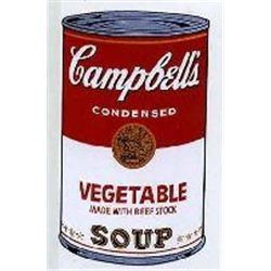 Warhol Print Sunday B Campbell's Soup Can Vegetable